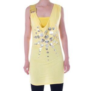 Women Sleeveless Top, 11375, Yellow
